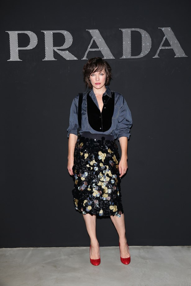 Milla Jovovich at Prada.