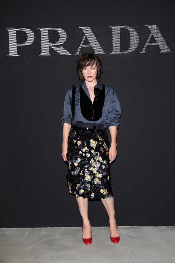 Milla Jovovich at Prada.