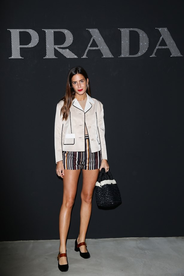 Gala Gonzalez at Prada.