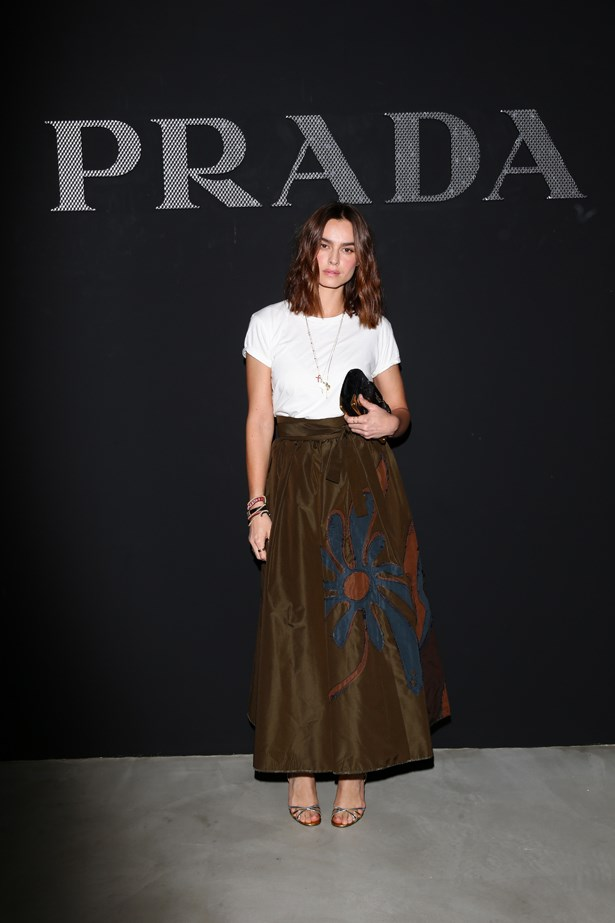 Kasia Smutniak at Prada.