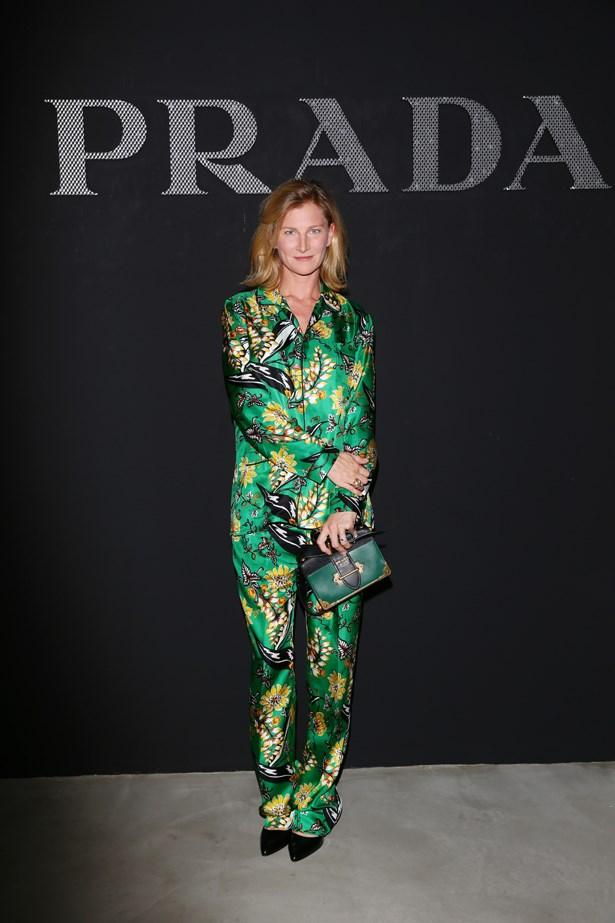 Elizabeth Von Guttman at Prada.