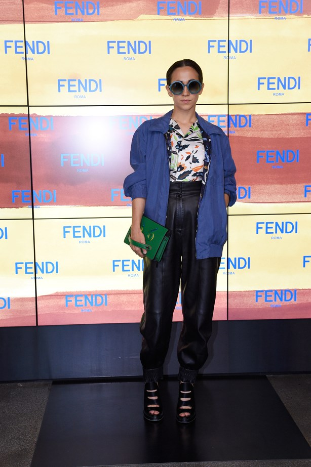 Delfina Delettrez at Fendi.