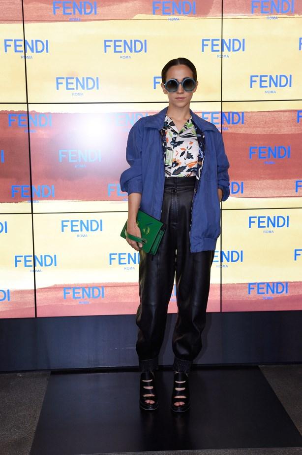 Delfina Delettrez at Fendi.
