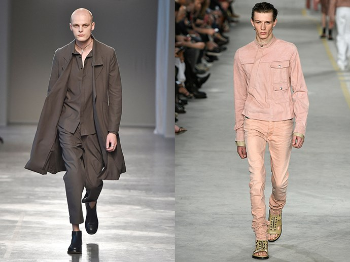 <p> ALL OVER NEUTRAL<p> <p> In the age of over-eccentric-ism (thanks to Gucci) it can sometimes be nice to stray into a little neutral territory. Jun Li (left) and Diesel Black Gold (right) put a refreshing touch of all over neutral (monochrome neutral if you can swing it) down the runways.