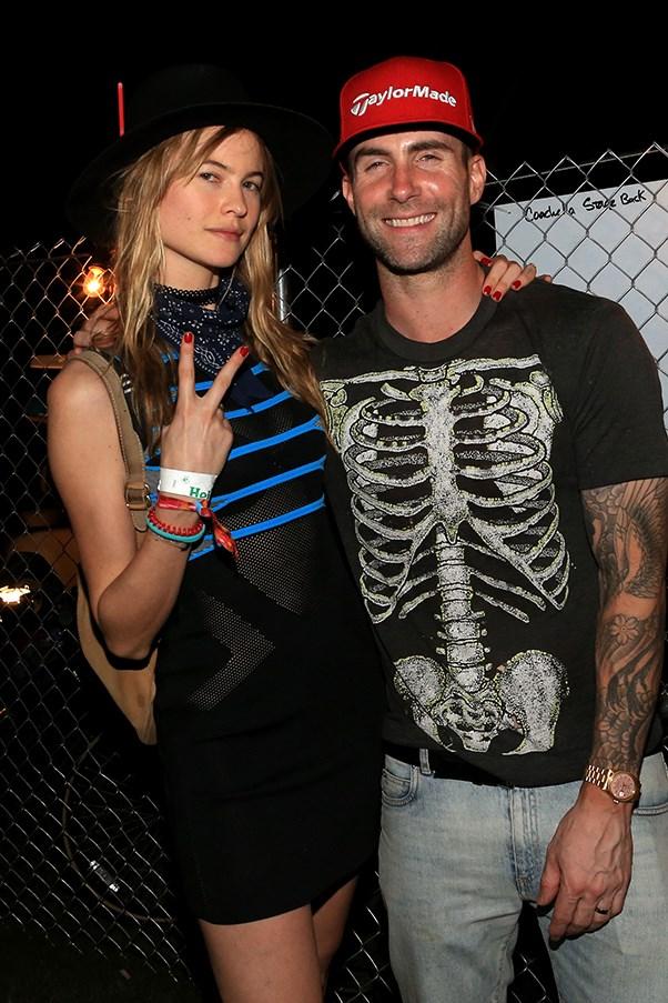Adam Levine and Behati Prinsloo.