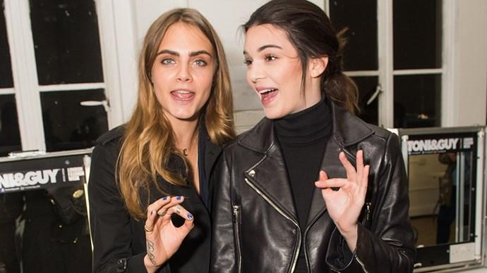 Cara Delevingne and Kendall Jenner.