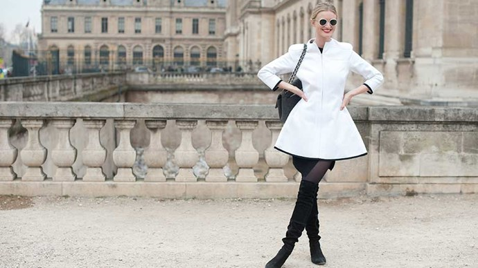 Model and photographer Candice Lake at Paris Womens Fashion Week Autumn/Winter 2013