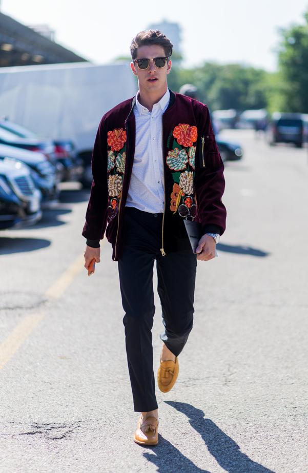 Women street style mens fashion week spring 2017