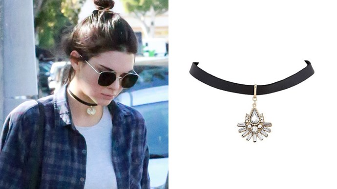 "<a href=""http://www.jewelcult.com/diana-choker-necklace/"">Jewel Cult 'Diana' choker</a>."