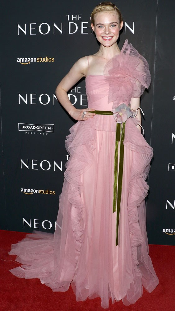 Elle Fanning at the New York premiere of <em>The Neon Demon</em>.