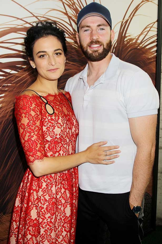 Jenny Slate and Chris Evans at the New York City premiere of 'The Secret Life of Pets'.