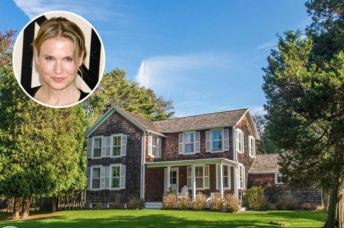 </p><p><b>Renee Zellweger</b></p><p> Location: East Hampton, New York</p><p> Though this East Hampton home may be a little out of Bridget Jones' price range, it was the perfect summer getaway for Renee Zellweger. She recently sold the four-bedroom estate through Linda Haugevik of Douglas Elliman for $6 million after owning the property for over a decade.