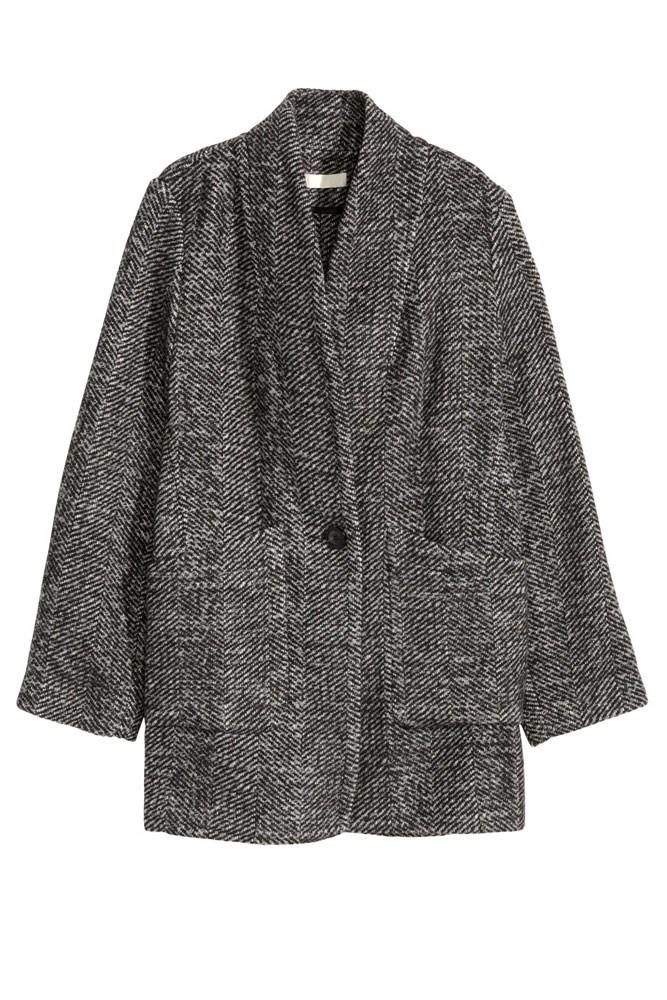 """<a href=""""http://www.hm.com/au/product/37211?article=37211-A"""">Coat, $79.95, H&M</a>"""