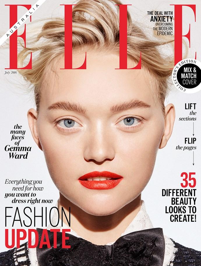 Gemma Ward ELLE Australia July cover.