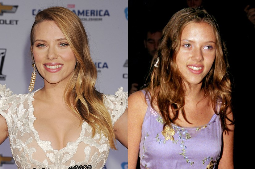 Scarlett Johansson made a name for herself as a blonde bombshell, but her roots are actually on the brunette side of things.