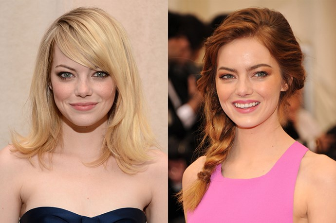 One of Tinsletown's most famous redheads, Emma Stone, is really a blonde.