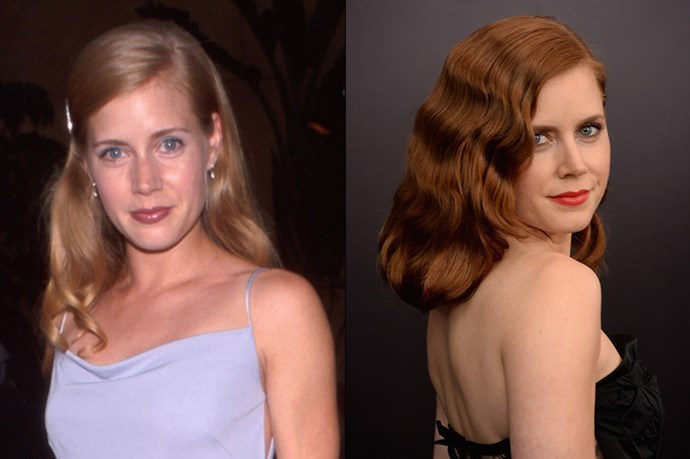 Another redhead imposter. Amy Adams' famous red waves are naturally blonde.