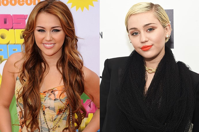 You might not remember, but back in Miley's Disney Channel days, she rocked her natural brown hair.