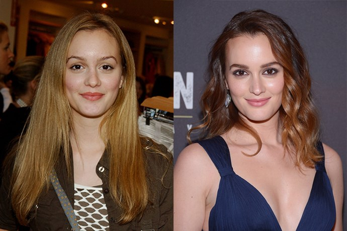 Leighton Meester switched from blonde to brunette when she hit the big time.