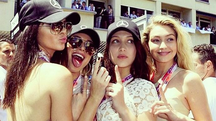 Kendall Jenner, Gigi Hadid, Bella Hadid and Hailey Baldwin.
