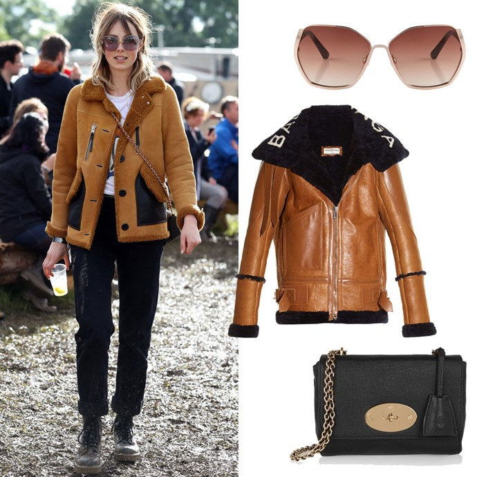 Edie Campbell Glastonbury Festival style