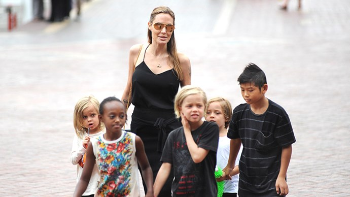 Angelina Jolie kids.