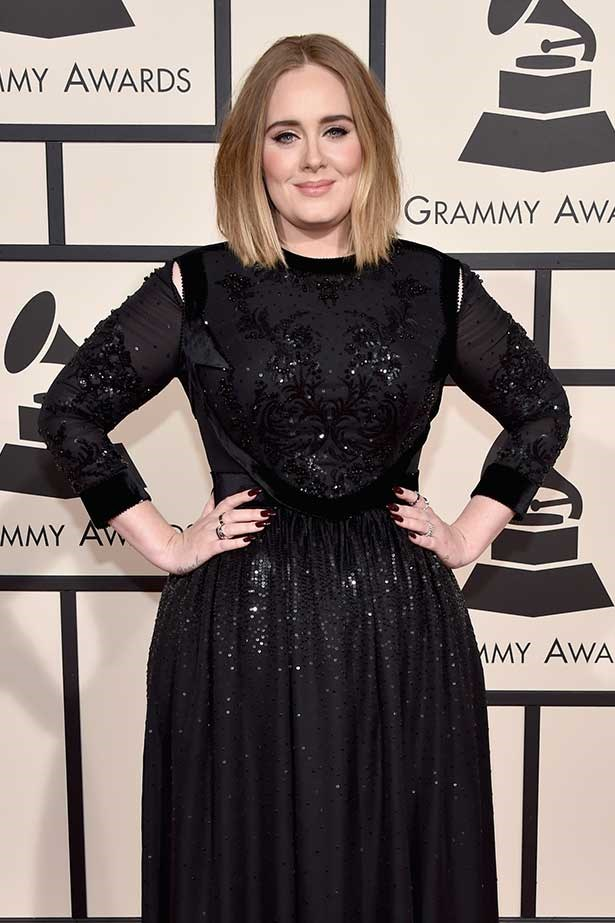 Adele attends the Grammys