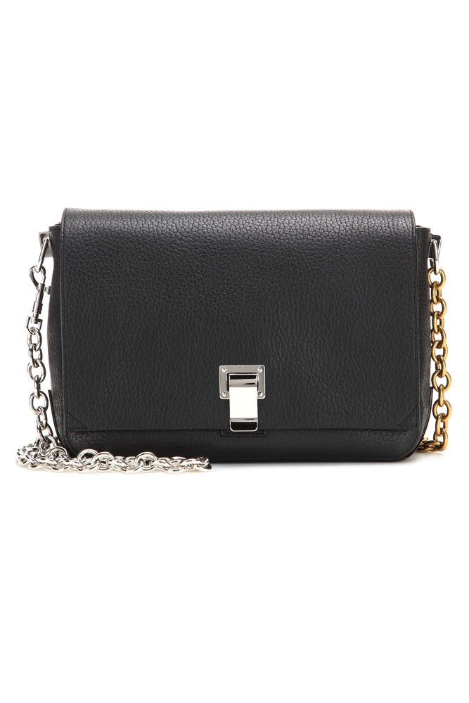 "<a href=""http://www.mytheresa.com/en-au/ps-small-courier-leather-shoulder-bag-433962.html"">Bag, $1170, Proenza Schouler at mytheresa.com</a>"