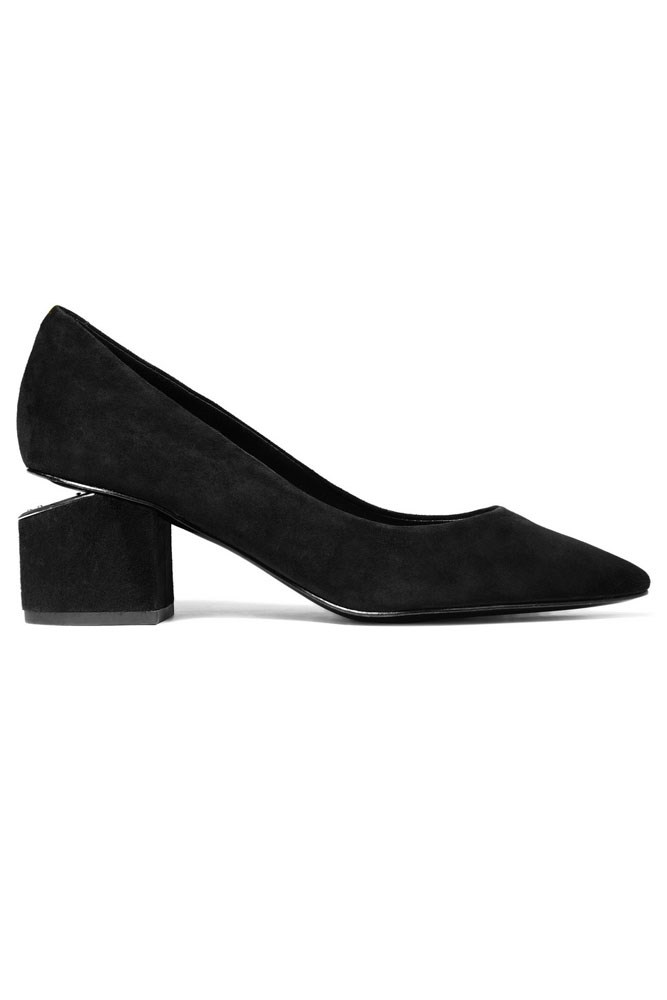 "<a href=""https://www.net-a-porter.com/au/en/product/728688/alexander_wang/simona-cutout-suede-pumps"">Pumps, $737, Alexander Wang at net-a-porter.com</a>"
