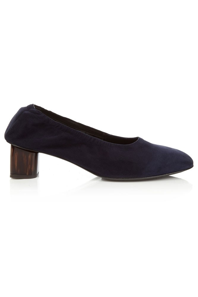 "<a href=""http://www.matchesfashion.com/au/products/Robert-Clergerie-Pocket-block-heel-suede-ballet-pumps%09-1058186"">Pumps, $435, Robert Clergerie at matchesfashion.com</a>"