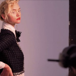 Gemma Ward on set with Georges Antoni