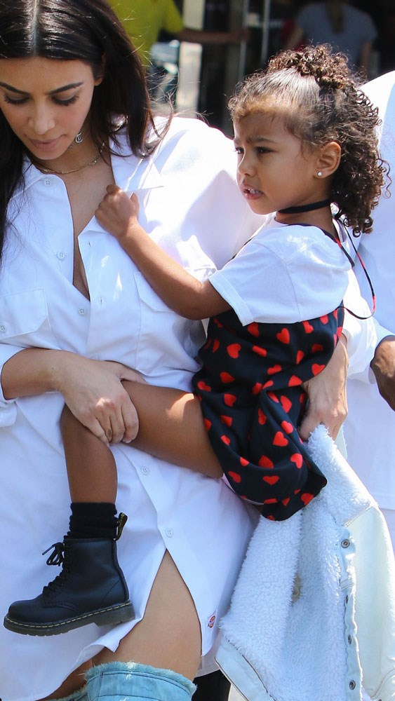 North West, whose tee and dress combo deserves a special mention.