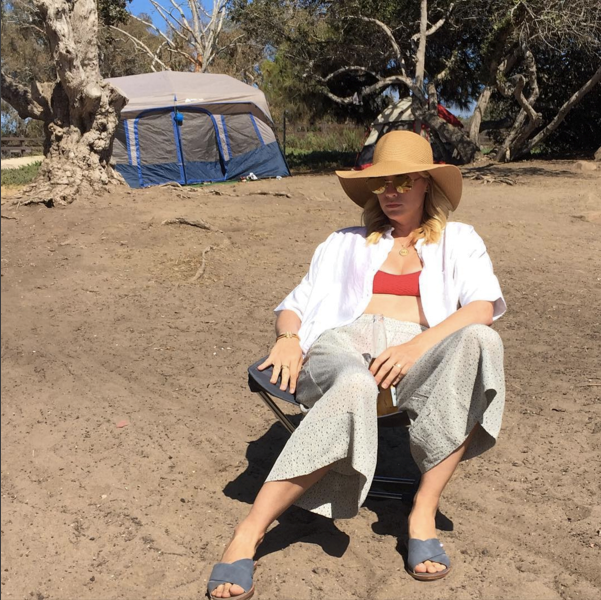 """<strong>January Jones</strong> <br><br> """"I don't think I'm a camping person. #merica #happyfourth"""" <br><br> Instagram: <a href=""""https://www.instagram.com/p/BHYH1iCD3qE/"""">@januaryjones</a>"""
