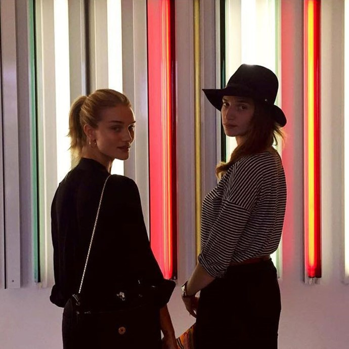 Rosie Huntington-Whiteley and her sister Florence