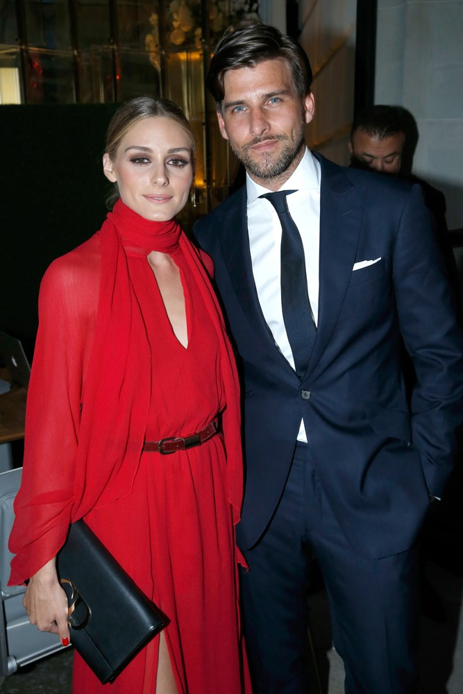 Olivia Palermo and Johannes Huebl at amfAR's Paris Couture Week dinner