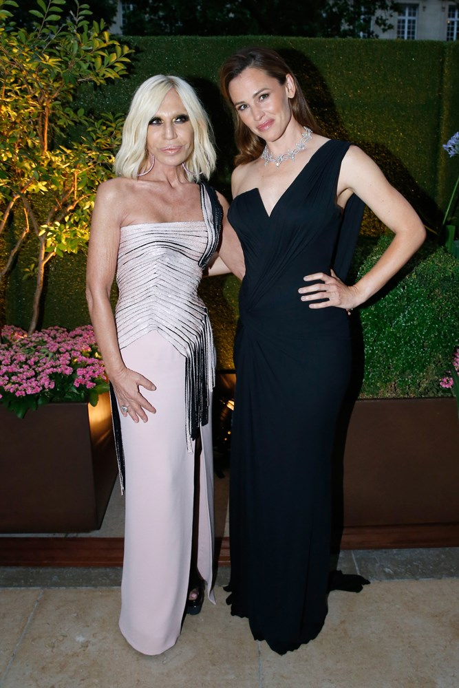 Donatella Versace and Jennifer Garner