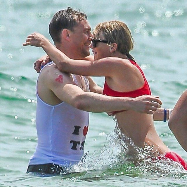 """Hiddleswift (complete with an """"I <3 T.S."""" T-shirt, because this is the corniest romance of all time)."""