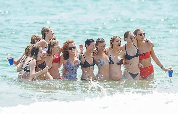 Blake Lively, Gigi Hadid, Karlie Kloss and co. celebrate 4th of July with pal Taylor Swift (not pictured).
