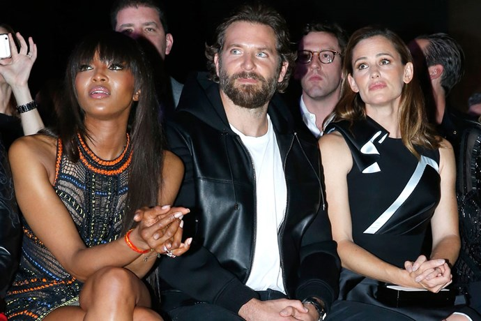 Naomi Campbell, Bradley Cooper and Jennifer Garner at Atelier Versace