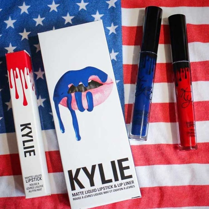 """<strong>Kylie Jenner</strong> """"Happy 4th of July! @kyliecosmetics store is still stocked & open as planned 😊 I hope everyone has an amazing and safe 4th! 🎉"""" Instagram: <a href=""""https://www.instagram.com/p/BHckA0zhfqv/?taken-by=kyliejenner"""">@kyliejenner</a>"""