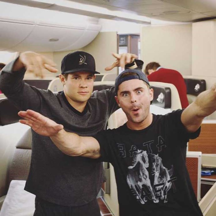 """<strong>Zac Efron</strong><br><br> """"Even though we're heading down under to visit the mates- we're flying for America right now""""<br><br> Instagram: <a href=""""https://www.instagram.com/p/BHbsuTmgxTu/"""">@zacefron</a>"""