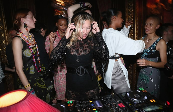 Kate Moss on the decks, of course