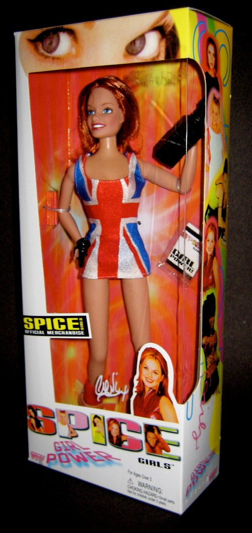 A Ginger Spice doll.