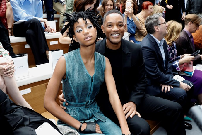 Willow and Will Smith at Chanel