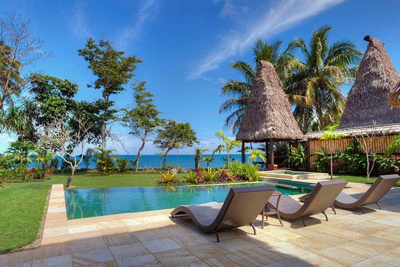 fiji spa luxury hotel pool water sky view ocean