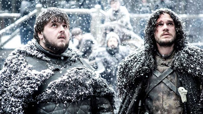 Samwell Tarley and Jon Snow in Game of Thrones