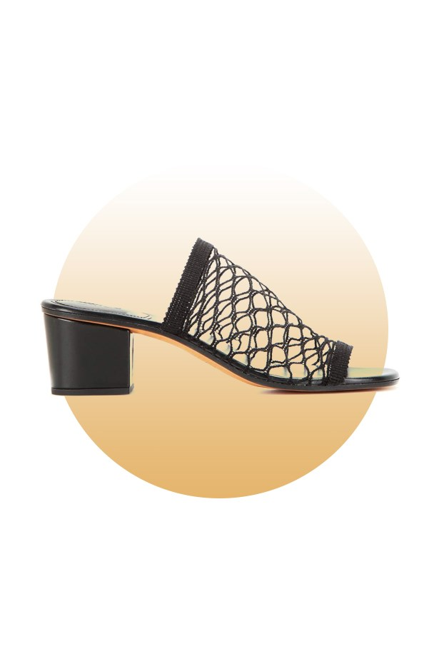 "Shoes, $475, <a href=""http://www.mytheresa.com/en-de/jake-mesh-sandals-580872.html?catref=category"">Chloé at mytheresa.com</a>."