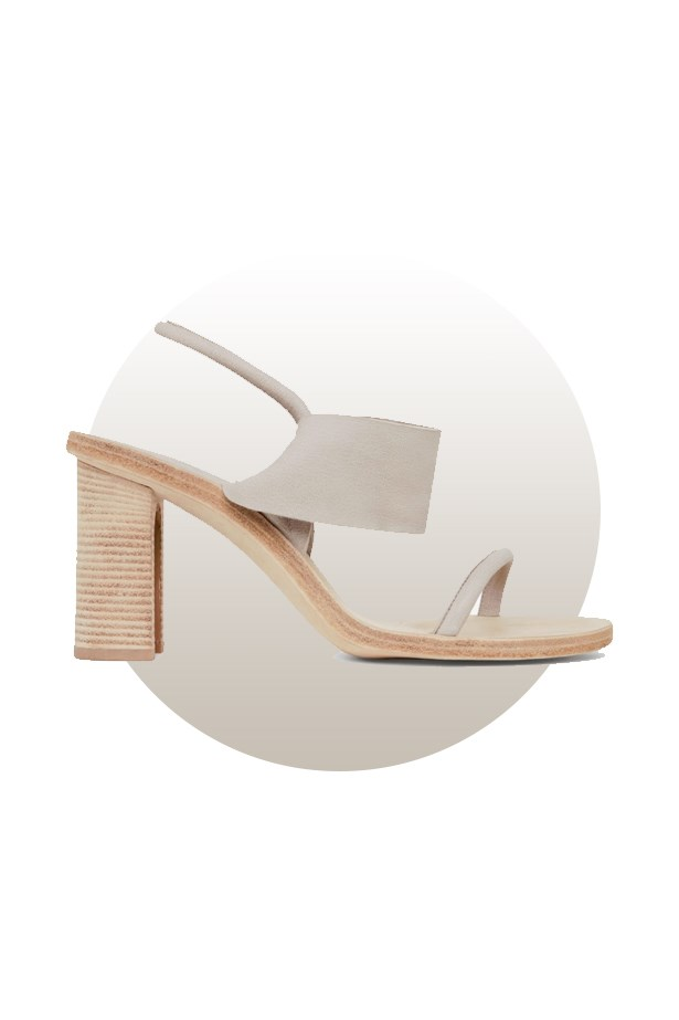 "Shoes, $333, <a href=""http://www.cosstores.com/us/Women/Shoes/Sandal_with_folded_heel/46897-21115575.1#c-15133331"">COS</a>."