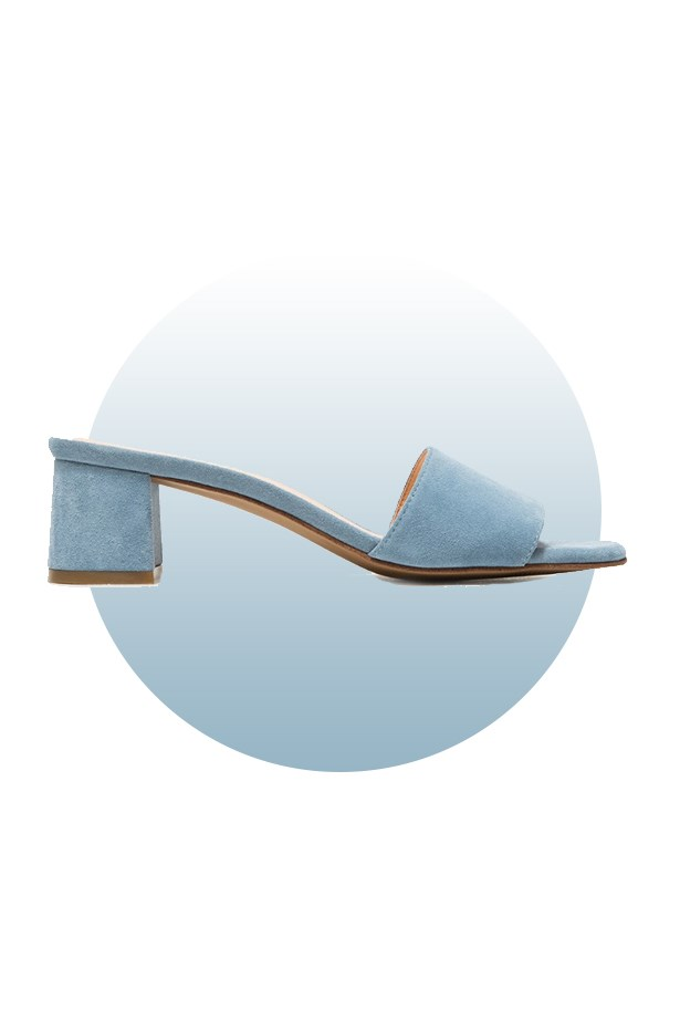 "Shoes, $333, <a href=""https://www.lyst.com/shoes/marais-usa-classic-mule-in-blue/"">Marais Usa at lyst.com</a>."