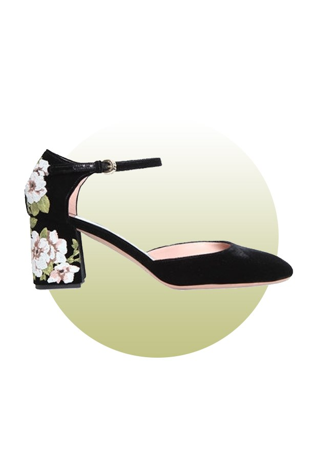 "Shoes, $1,481, <a href=""http://www.luisaviaroma.com/rochas/women/pumps/64I-AKG004/lang_EN/colorid_OTk50?SubLine=shoes&CategoryId=95"">Rochas at luisaviaroma.com</a>."